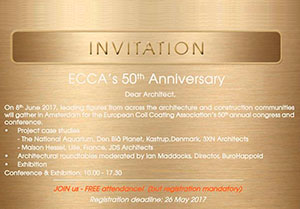 ECCA's 50th Anniversary - Invitation to architects
